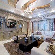 Contemporary Family Room by Perla Lichi Design