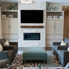 Contemporary Family Room by Red Egg Design Group