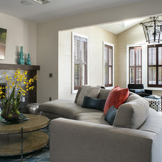 Contemporary Family Room by Robert Legere Design