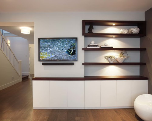 Tv wall mount design ideas remodel pictures houzz for Wall mounted tv cabinet design ideas