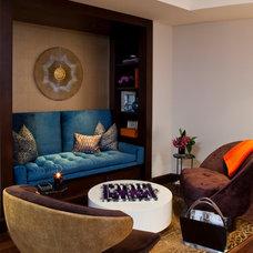 Contemporary Family Room by Smith Firestone Associates