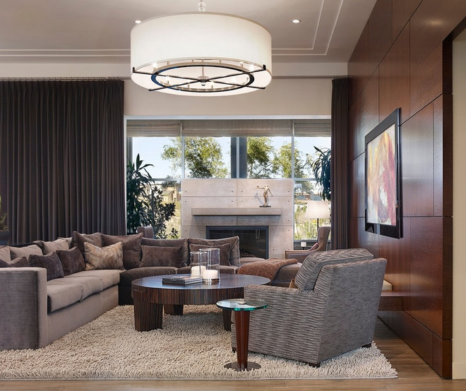 Contemporary Family Room by Statement of Style