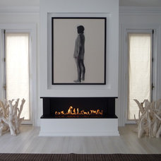 Contemporary Family Room by The Fireplace Specialist