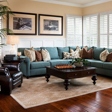 contemporary family room by Style On a Shoestring