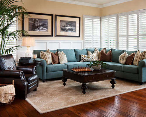 Teal and cream home design ideas pictures remodel and decor for Teal and brown chair