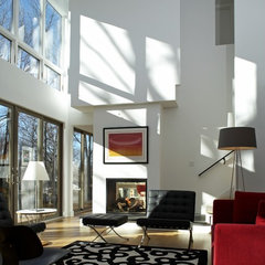 contemporary family room by Ruhl Walker Architects