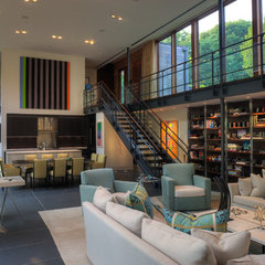 contemporary family room by Ziger/Snead Architects