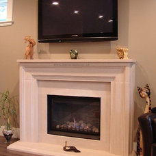 Contemporary Family Room by Blenard's Decor Limited
