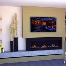 Contemporary Family Room by Medinger Design Studio