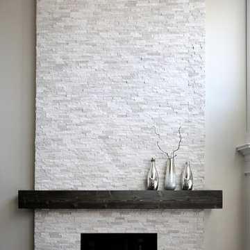 Contemporary floor to ceiling fireplace
