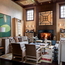 Eclectic Family Room by SGH Designs inc.