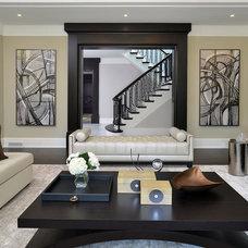Contemporary Family Room by Segreti Design