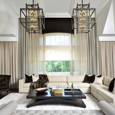 Contemporary Family Room by Segreti Design