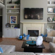 Contemporary Family Room Contemporary home with a beachy feel