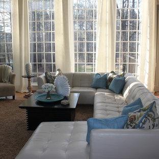 Family room - contemporary family room idea in Atlanta