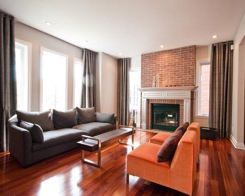 Brick Fireplace Mantel Photos - Brick Fireplace Mantel Design Ideas & Remodel Pictures Houzz