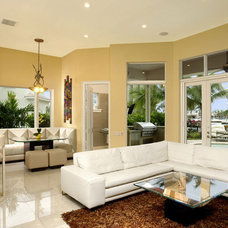 Contemporary Family Room by Weiss Design Group, Inc.