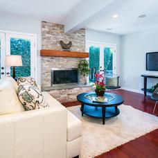 Contemporary Family Room by The Shenbaum Group, Inc.