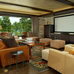 contemporary media room Contemporary Media Room