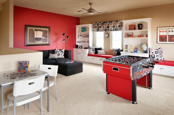 Contemporary Family Room by Design InSite