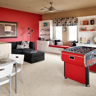 フェニックスのコンテンポラリースタイルのおしゃれなファミリールーム (ゲームルーム) の写真