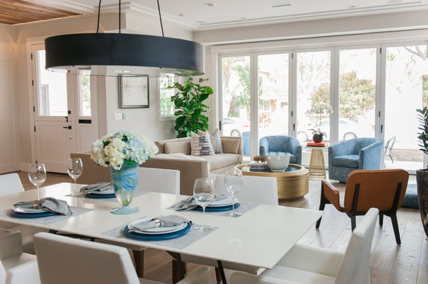 Contemporary Family Room by Serendipite Designs