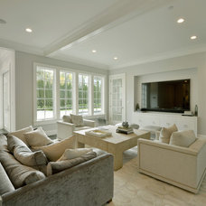 Transitional Family Room by Murphy Brothers Contracting