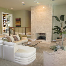 Contemporary Family Room by Designs by K