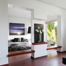 Contemporary Family Room by Hussein Rady Design