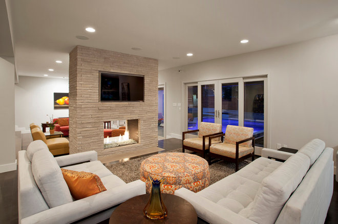 Contemporary Family Room by Rick O'Donnell Architect