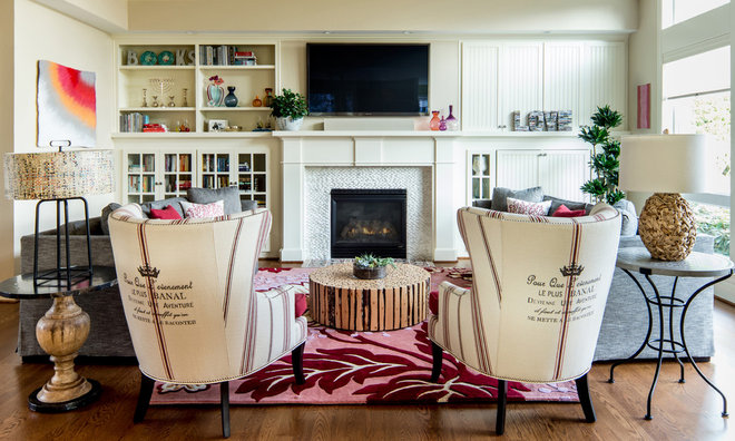 Eclectic Family Room by Jason Ball Interiors, LLC
