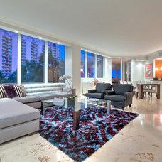 Contemporary Living Room by Corners Interior Design, LLC.