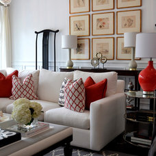 Transitional Family Room by ROBIN RILE FINE ART