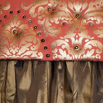 Cornice Boxes using DIamond Head Upholstery Tack