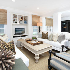 Beach Style Family Room by Blackband Design