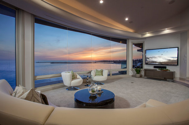 Contemporary Living Room by Brion Jeannette Architecture