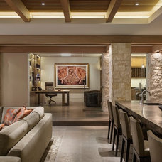 Contemporary Family Room by Rosemarie Allaire Lighting Design