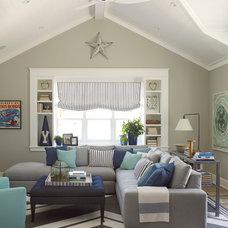 Beach Style Family Room by Burnham Design