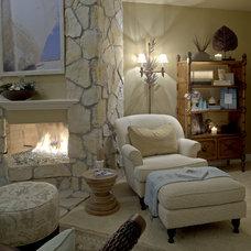 Tropical Family Room by Coast to Coast Interiors