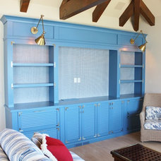 Beach Style Family Room by Orion Woodcraft