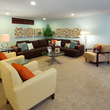Contemporary Family Room by Carlyn And Company Interiors + Design