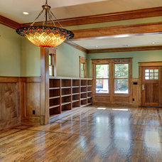 Craftsman Family Room by Southland Homes of Texas
