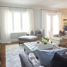 Contemporary Family Room by barlow reid design