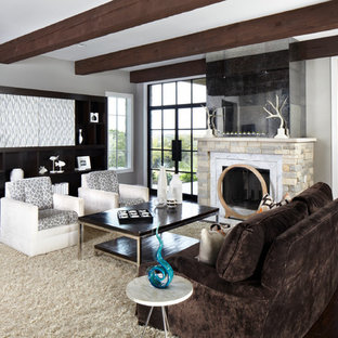 Wood Beams Family Room Ideas Photos Houzz