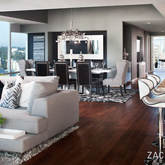 modern family room by Zack Benson Photography