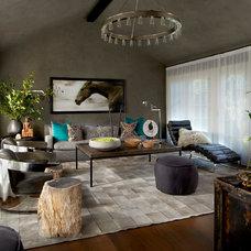 Contemporary Family Room by PROjECT interiors + Aimee Wertepny