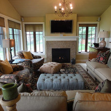 Traditional Family Room by Laurie Plattes