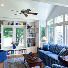 Traditional Family Room by Christine Kelly / Crafted Architecture