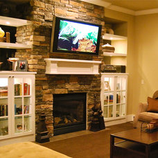 Traditional Family Room by Archistructure, Inc.