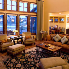 Mediterranean Family Room by Rentfrow Design, LLC